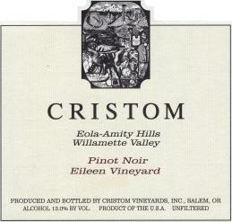 Cristom Eileen Vineyard Pinot Noir label