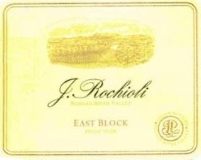 Rochioli Vineyards and Winery East Block Pinot Noir label