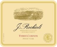 Rochioli Vineyards and Winery Three Corner Pinot Noir label