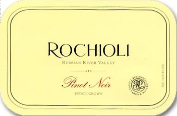 Rochioli Vineyards and Winery Estate Pinot Noir label
