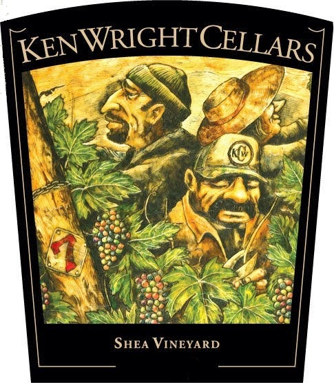 Ken Wright Cellars Shea Vineyard Pinot Noir label