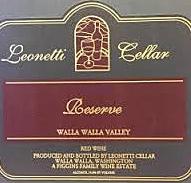 Leonetti Cellars Reserve label
