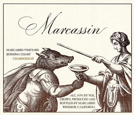 Marcassin Marcassin Vineyard Chardonnay label