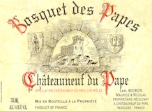 Domaine Bosquet des Papes Châteauneuf-du-Pape  label