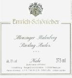 Weingut Emrich-Schönleber Monzinger Halenberg Riesling Auslese label
