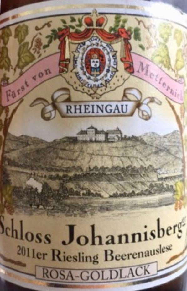 Schloss Johannisberg Rosa-Goldlack Riesling BA label