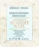 Weingut Robert Weil Kiedricher Gräfenberg Riesling BA label
