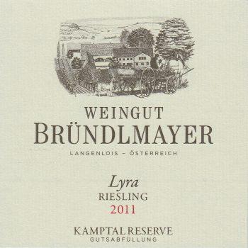 Weingut Bründlmayer Riesling Heiligenstein Lyra Reserve label