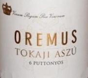 Oremus Tokaj  Aszú 6 Puttonyos label