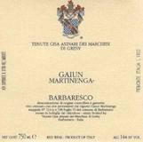 Tenute Cisa Asinari dei Marchesi di Gresy Barbaresco Gaiun Martinenga label