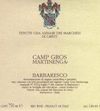 Tenute Cisa Asinari dei Marchesi di Gresy Barbaresco Camp Gros Martinenga label