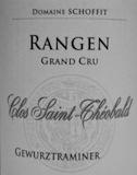 Domaine Schoffit Rangen de Thann Clos Saint-Théobald Gewürztraminer Grand Cru label