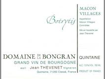 Domaine de la Bongran (Thévenet) Mâcon-Villages Cuvée Botrytis label