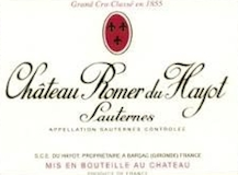 Château Romer du Hayot  Deuxième Cru label
