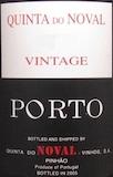 Quinta do Noval Porto  Vintage Port label
