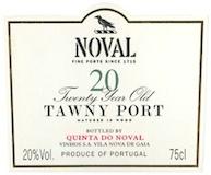 Quinta do Noval Porto  20 Year Old Tawny Port label