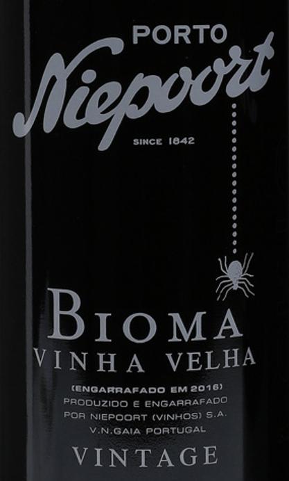 Niepoort Porto Bioma Vinha Velha Vintage Port label