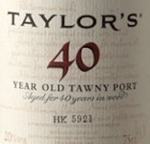 Taylor's Porto  40 Year Old Tawny Port label