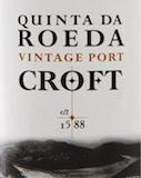 Croft Porto Quinta do Roeda Vintage Port label