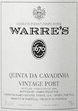 Warre's Porto Quinta da Cavadinha Vintage Port label