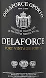 Delaforce Porto  Vintage Port label
