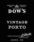 Dow's Porto  Vintage Port label