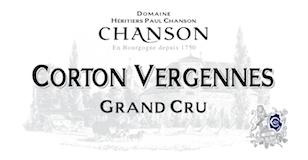 Chanson Père et Fils Corton Grand Cru Vergennes label