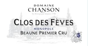 Chanson Père et Fils Beaune Premier Cru Clos des Fèves label