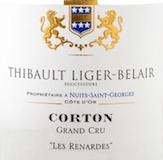 Domaine Thibault Liger-Belair Corton Grand Cru Les Renardes label