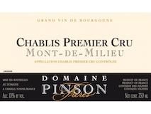 Domaine Pinson Frères Chablis Premier Cru Mont de Milieu label