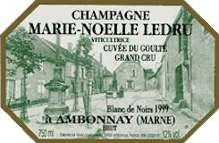 Marie Noëlle Ledru Cuvée du Goulté Grand Cru label
