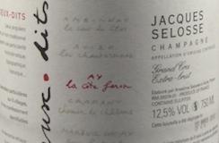 Jacques Selosse Blanc de Noirs La Côte Faron Grand Cru label