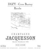 Jacquesson Dizy Corne Bautray label
