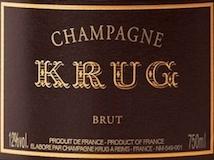 Krug Brut Vintage label