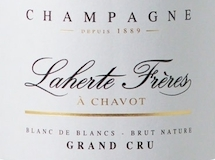 Laherte Blanc de Blancs Brut Nature Grand Cru label