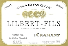 Lilbert-Fils Blanc de Blancs Brut Grand Cru label
