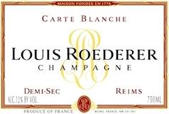 Louis Roederer Carte Blanche Demi-Sec label