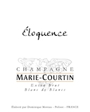Marie Courtin Eloquence Blanc de Blancs Extra Brut label