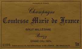 Paul Bara Comtesse Marie de France Grand Cru label