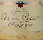 Philipponnat Juste Rosé Clos des Goisses label