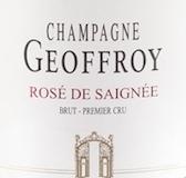 René Geoffroy Rosé de Saignée Brut Premier Cru label