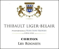Domaine Thibault Liger-Belair Corton Grand Cru Le Rognet label