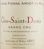 Domaine Pierre Amiot Clos Saint-Denis Grand Cru  label
