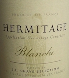 JL Chave Sélection Hermitage Blanche label