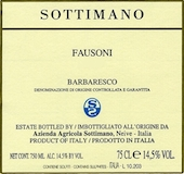 Sottimano Barbaresco Fausoni label