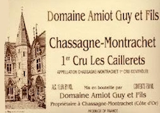 Domaine Guy Amiot et Fils Chassagne-Montrachet Premier Cru Les Caillerets label