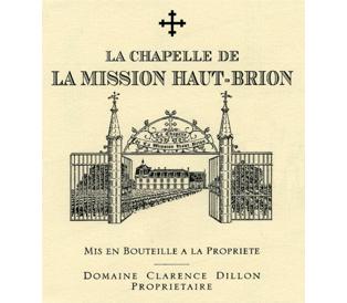Château La Mission Haut-Brion La Chapelle de La Mission Haut-Brion label