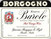Giacomo Borgogno e Figli Barolo  Riserva label