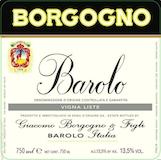 Giacomo Borgogno e Figli Barolo Liste label