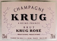 Krug Rosé label